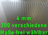 Stegplatten Ersatzplatten für Gewächshaus 4 mm klar farblos UV-geschützt… (L x B = 1500 x 600...