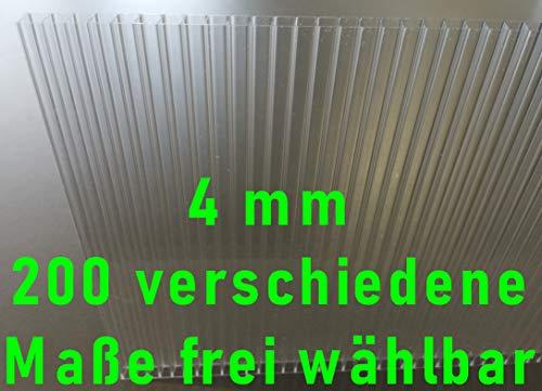 Stegplatten Ersatzplatten für Gewächshaus 4 mm klar farblos UV-geschützt… (L x B = 1400 x 700 mm)