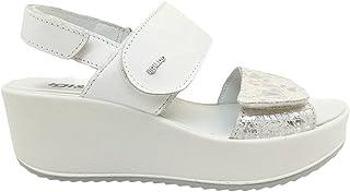 Sandali donna IGIeCO 7164311 scarpe zeppa casual comoda plateau bianca platform