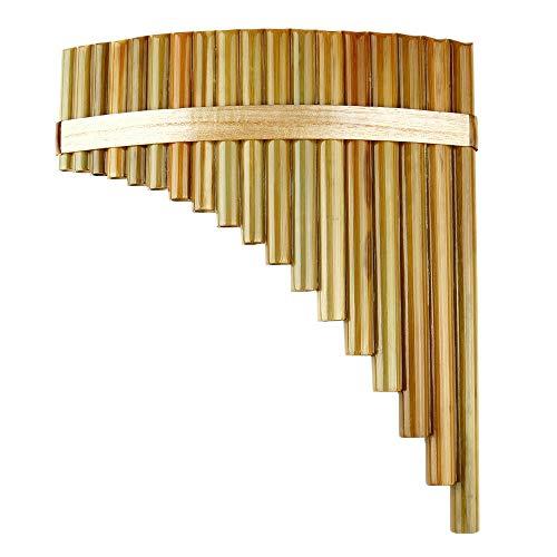 Flauta de pan 18 Pipas F Key Pan Flauta De Alta Calidad Pan Pipes Instrumento De Viento De Madera Instrumento Musical Tradicional Chino Flauta De Bambú