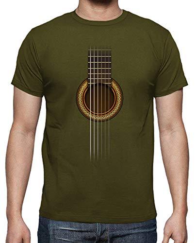 tostadora - Mnner - T-Shirt Voll Gitarre Armeegrün S