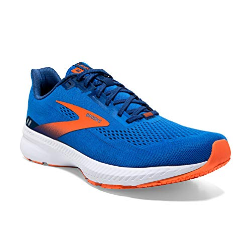 Brooks Launch 8, Scarpe da Corsa Uomo, Blue/Orange/White, 44 EU