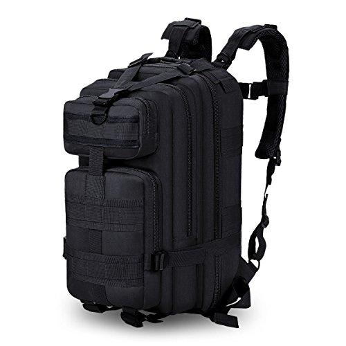 35L Mochila Multifunción Nylon Impermeable Camping Excursionismo Mochila de viaje ( Color : Negro )