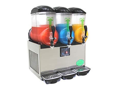 BRAVO ITALIA 3 BOWLS Slushie Machine, 3.2 gallons each bowl, 150 CUPS,COMMERCIAL GRADE.Slushy Machine, Slushy Maker, Margarita Machine