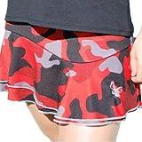 La Mouche Padel Falda Modelo básico Camuflaje Rojo (S)