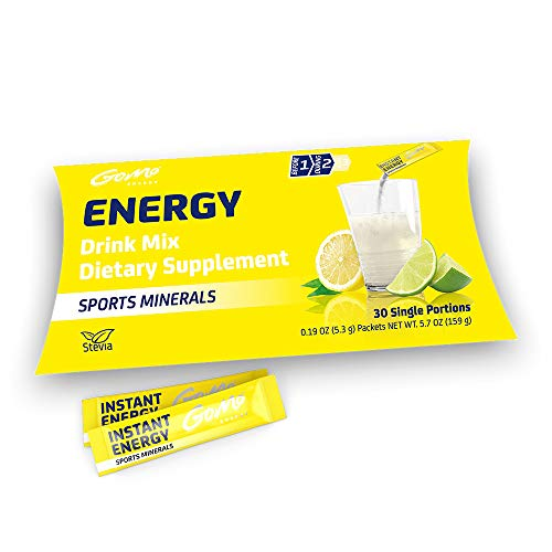 GoMo ENERGY Electrolyte Energy Sports Drink | Powerful Boost for Endurance & Athletic Performance | Isotonic Energy Drink Powder Mix | Natural Sugar Free Sport Supplement | SPORTS MINERALS 30 Servings