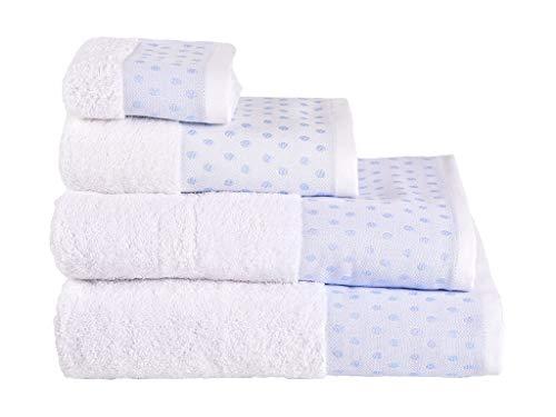 Set 2 Toallas Luna TOCADOR Azul 500GR