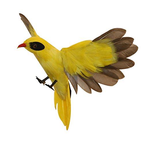 Jili Online 15 Types Lifelike Artificial Bird Feathered Birds Taxidermy Yard Garden Lawn Decor Vivid Animals - Oriole Flying, as described