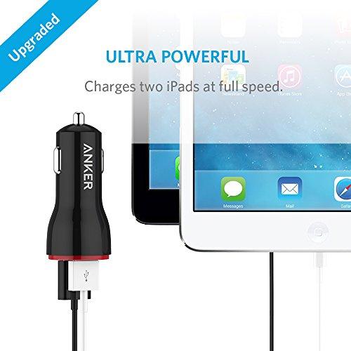 Anker 24W Dual USB Cargador de Coche Powerdrive 2+ 3ft Micro USB a USB Cable Combo para Samsung Galaxy S6/Edge/Plus, Note, Nexus, HTC, Motorola, Nokia y más