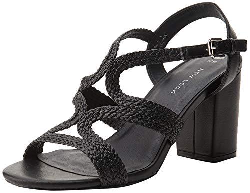 New Look Viv, Zapatos con Tacon y Correa de Tobillo para Mujer, Negro (Black 1), 36 EU