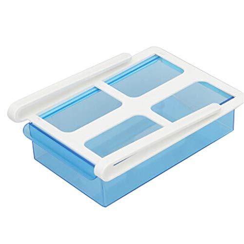 LHaoFY Diapositiva Frigorífico Congelador Organizador Refrigerador Almacenamiento Estante Estante Estante Cajón de Almacenamiento de cajones de plástico para Fruta Helado Vegetal (Color : Blue)