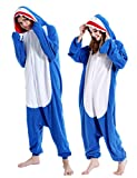 Adult Shark Onesies Pajamas Animal Cosplay Chrismas Sleepwear Costume for Women Men