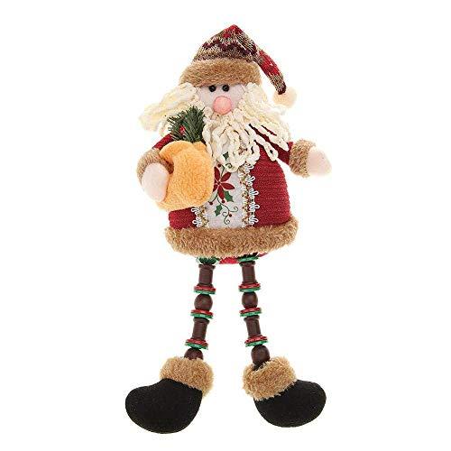 Christmas Plush Toy Long Leg Sitting Santa Claus Snowman Sitting Doll Figurine Toys Xmas Decorations Ornaments Sitter Fireplace Window Table Outdoor Yard Tree Decorations Christmas Home Decor 12.5inch