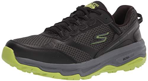 Skechers mens GOrun Trail Altitude - Performance Running & Hiking Trail Running,Black/Lime,11.5 M US