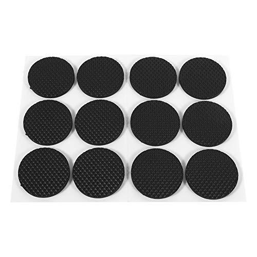 Fydun anti-slip pads 12 stuks zelfklevende vloerbeschermers pads beschermers vloerbeschermers meubels sofa tafel stoel rubberen voetjes pad ronde rubberen voetjes pads (zwart)