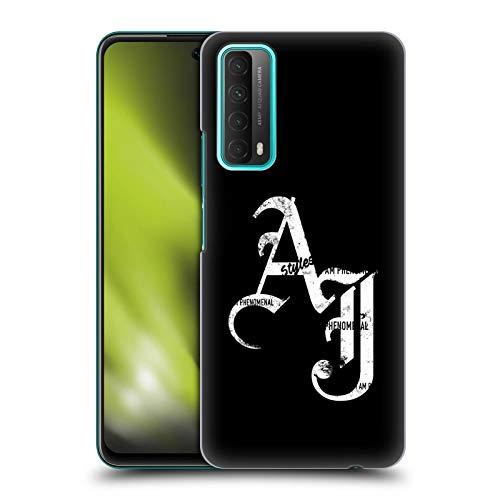 Head Case Designs sous Licence Officielle WWE Initiales De Grunge AJ Styles Coque Dure pour l'arrière Compatible avec Huawei P Smart (2021)