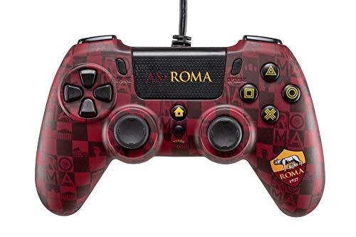 Wired Controller AS Roma Compatibile con PS4, PS5 E PC con Connettore Audio Jack da 3.5 mm e funzione Turbo - PlayStation 4