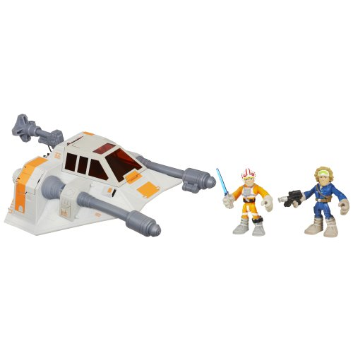 Star Wars Jedi Force Playskool Heroes Snowspeeder mit Luke Skywalker und Han Solo 32982