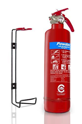 FSS UK Auto-Feuerlöscher 1100 Mehrzweck-Trockenpulver, 1 kg, ideal für Autos, Vans, Taxis, Lastwagen, Fahrzeuge, Wohnwagen, Wohnmobile etc. CE-gekennzeichnet (rot)