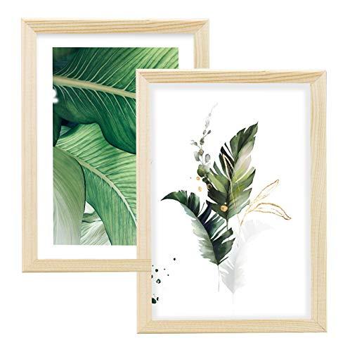 Postergaleria Cadre de l'image | 15x20 | Lot de 2 | Eko | Bois | Plexiglas | 8 couleurs | 10 tailles | Cadre d'affiche | Cadre photo