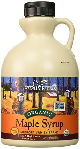 Coombs Family Farms Maple Syrup Organic Grade A Dark Color Robust Taste 32 Fl Oz