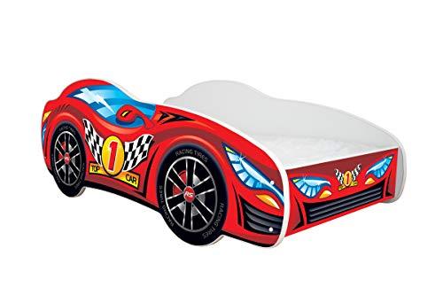 Topbeds Lit pour enfant Design voiture de course Matelas inclus
