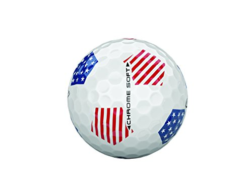 Callaway Golf Chrome Soft Truvis Golf Balls, (One Dozen), Stars and Stripes, Prior Generation
