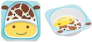 Skip Hop Zoo Melamine Plate & Bowl Set, Giraffe
