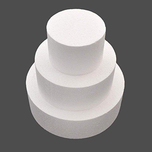 Steellwingsf Modelo de práctica para decoración de tartas de espuma de poliestireno redondo de 1,4 cm