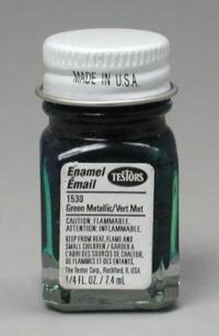 Testors Enamel 1/4 oz 1100 & 1500 Series Bottles Green Metal Flake