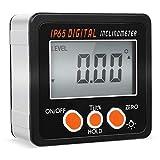 FIXKIT Goniometre Digital, Mesure Angle Digital LCD En Aluminium, Afficheur Rétro-éclairé,avec Batterie et Tournevis,Mini Digital Protractor