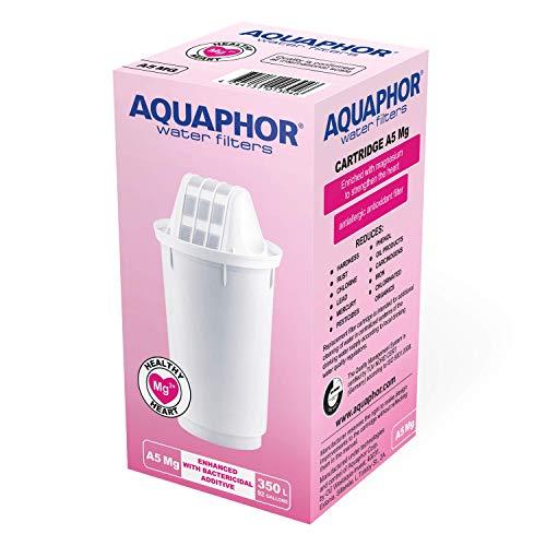 AQUAPHOR A5 Mg Pack 1 Wasserfilterkartusche, Kunststoff, weiß, 350 l