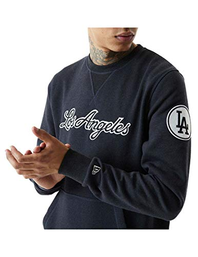New Era Herren Sweatshirt MLB Heritag Los Angeles Dodgers, Blau X-Large