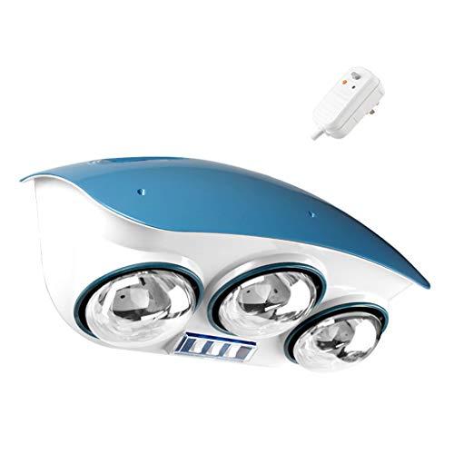 GXFC Wand-Badheizkörper, Energiesparende Infrarotlampe Wärmelampe, Duschraum-Heizung, 3-Birne 825W