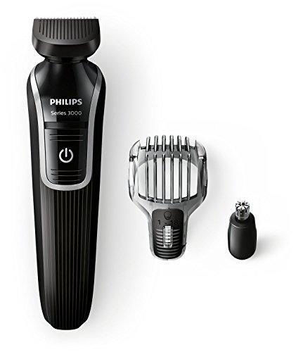 PHILIPS - QG3320/15 - Tondeuse multi-styles 3 en 1 - Fonctions barbe, moustache et oreilles, nez