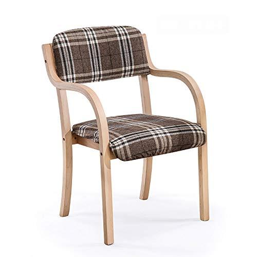 Chaise minimaliste moderne de restaurant en bois incurvé de maison Chaise de bureau arrière en bois plein nordique 8 couleurs facultative (Couleur : H)