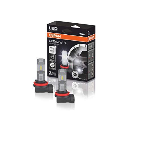 OSRAM 67219CW LEDriving FL Lampade LED Ultracompatte, Per lampade fendinebbia tradizionali H8H11 e H16 come soluzione retrofit, 12V, 6000K, Bianco Freddo, Set di 2