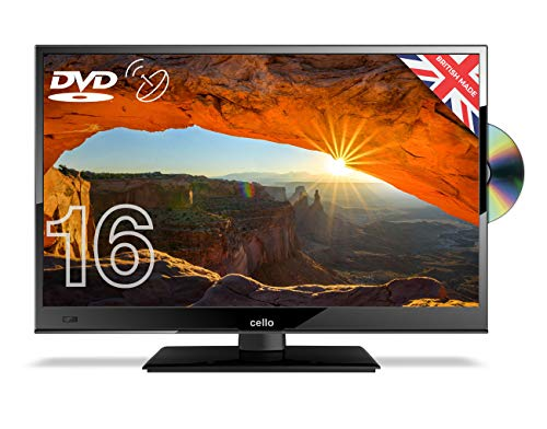 """Cello C1620FS 16"""" Full HD Widescreen LED TV, built-in DVD Player, Freeview & Satellite"""