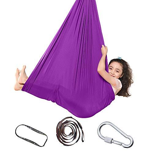 Topchances Therapieschaukel für Kinder und Jugendliche, weiche Hängemattenschaukel mit besonderen Bedürfnissen für Kinder, Yoga, sensorische Integration, Outdoor, Camping