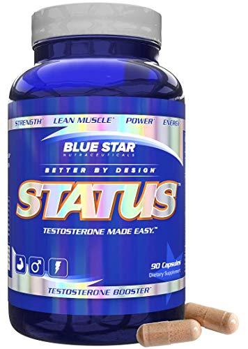 蓝星状态睾酮助推器男性:尖端测试助推器和DIM补充与KSM 66南非醉茄,自然建立肌肉,增强睾酮和雌激素座90粒
