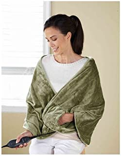 Sunbeam TCRQR-660-35 Premium Luxury Royal Mink Chill-Away Heated Wrap, Sage