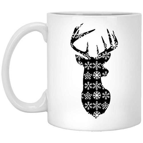 Divertidas tazas navideñas de caza de ciervos, los mejores regalos de Navidad para amigos y compañeros de familia, taza de café blanca de 325 ml