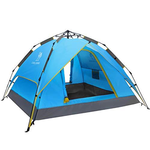 CAMEL CROWN Tienda de campaña para 2 – 3 Personas Mochila Plegable Impermeable automático Pop Up fácil configuración rápida Sundome Shelter para Playa Senderismo Viaje