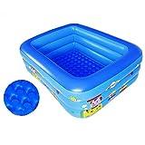 Centro de natación Piscina inflable familiar Piscina de gran tamaño 1-7 Pueblos PVC hinchable Inflable Kiddie Party Lounge Piscina para niños Adultos Piscinas para jardín Patio al aire libre-blue-