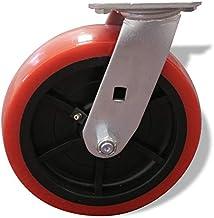 Troll 22-04 8 英寸重型聚氨酯车轮旋转脚轮 1000 磅容量 红色