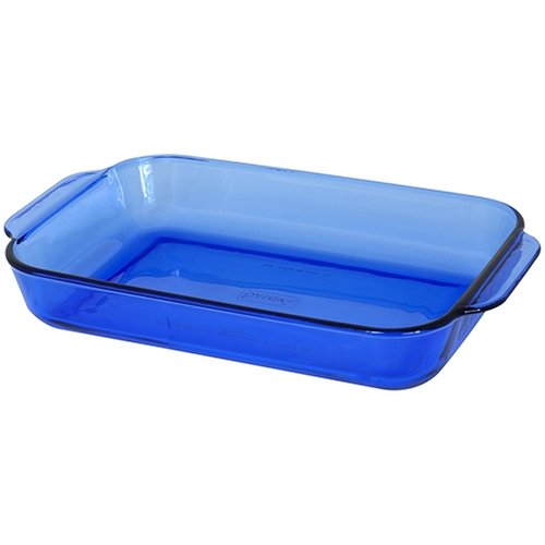 Pyrex Bakeware 11-by-7-Inch Rectangular Baking Dish, Cobalt