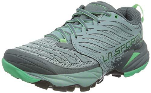 La Sportiva Akasha Woman, Zapatillas de Trail Running Mujer, Multicolor (Stone Blue/Jade Green 000), 36.5 EU