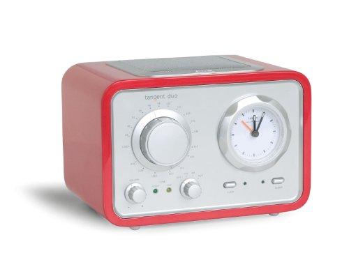 Tangent Duo Design Uhren-Radio rot
