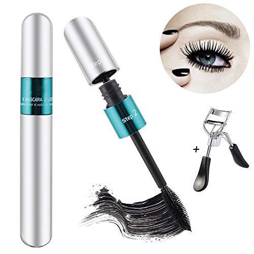 Mascara 4D, AIDUE Eyelash Mascara Imperméable à l'eau de fibre de Soie Cosmetics Mascara Volume pour Allongement De Curling Volumisant Épaississement Naturels de Cils (Blanc)