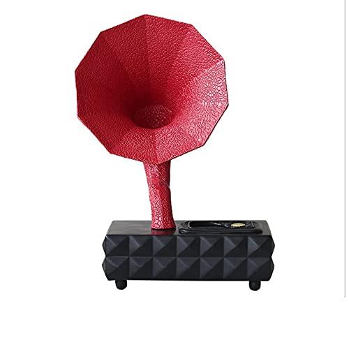 LICHUAN Subwoofer Retro de gramófono Altavoz Bluetooth Decoración de la Mesa para la Sala de Estar Estudio Dormitorio Día de San Valentín Regalo